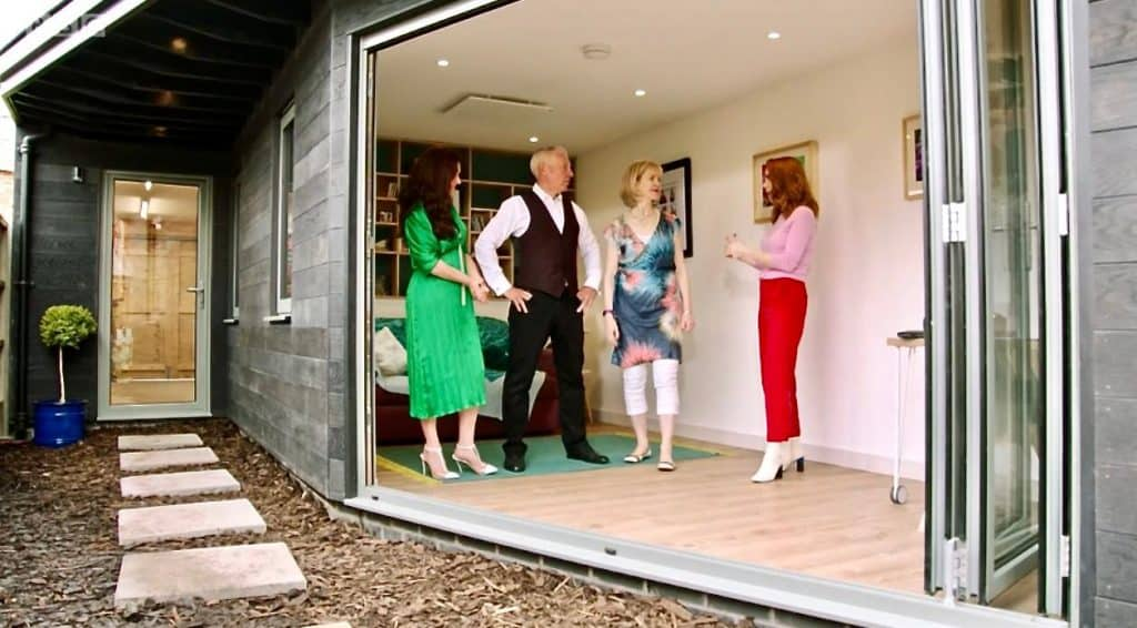 As seen on TV Your Home Made Perfect installs Herschel infrared heating for garden room