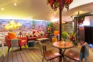 Herschel Manhattan heating Secret Garden Bar