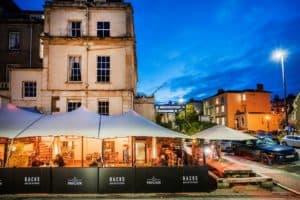 Herschel heaters installed in Bristol outdoor bar space